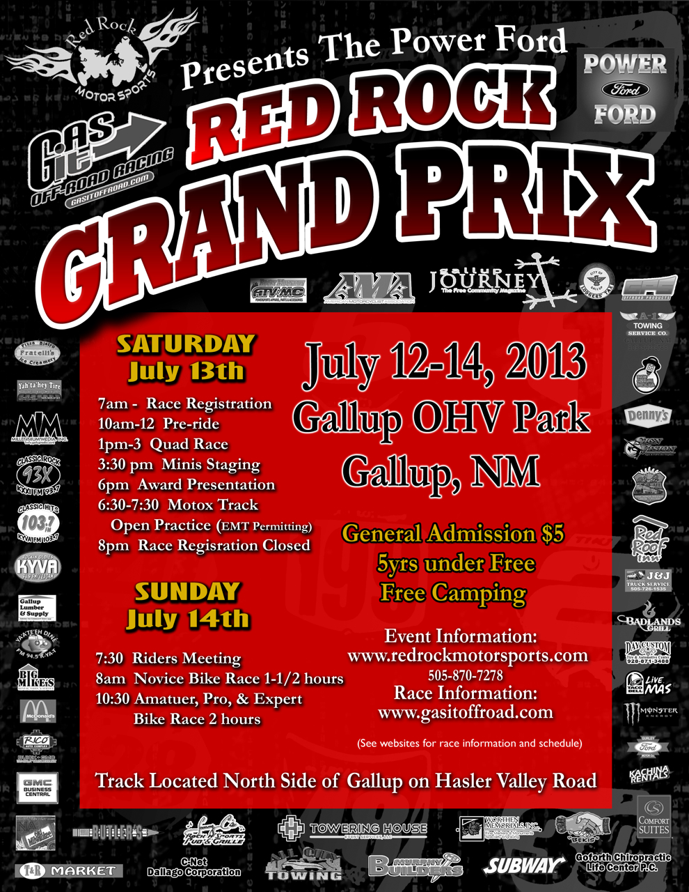 Red Rock Grand Prix Coming in July!