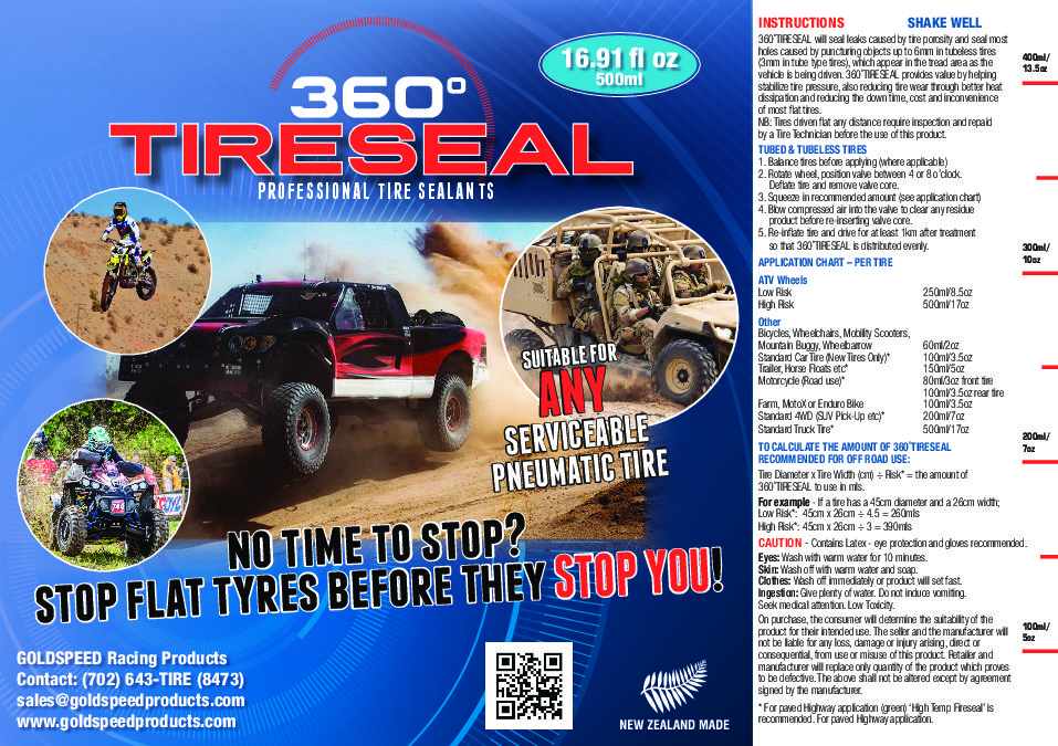 360TIRESEAL 500ml Blue Label PROOF